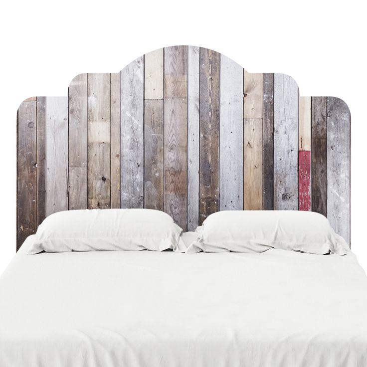 Distressed Barn Wood Headboard Decal | Headboard decal ...