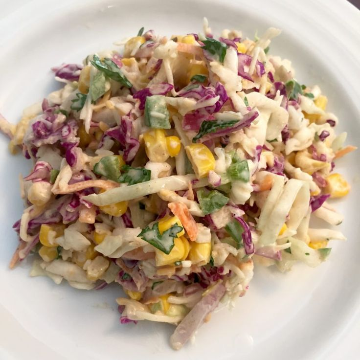 The BEST side dish for a barbeque or potluck! Texas Two-Step Colelsaw has a southwestern flare. It's is so simple, you can whip it up in minutes!