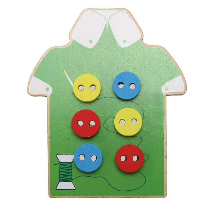 Kids Montessori Educational Toys Beads Lacing Board Wooden Toys Toddler Sew On Buttons Early Education Teaching Aids