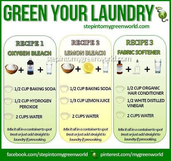 Here are some FABULOUS NATURAL LAUNDRY recipes. Vinegar and lavender oil is AMAZING for laundry too. What do you use? —