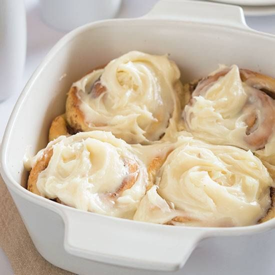 These Easy Overnight Cinnamon Rolls for Two make a rich and indulgent breakfast with outrageously amazing cream cheese frosting.
