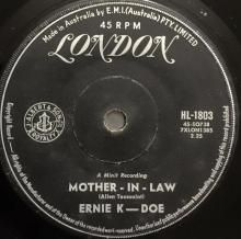 MOTHER-IN-LAW / WANTED, 10,000 DOLLARS REWARD ~ ERNIE K-DOE 7 inch single