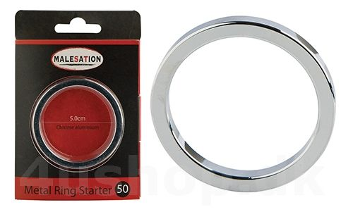 Malesation Metal Ring Starter - 50 mm - Forkromet aluminium - penis ring