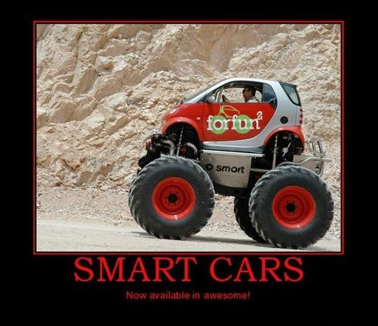 Smart Cars - Available in Awesome! | Car Humor | Pinterest ...