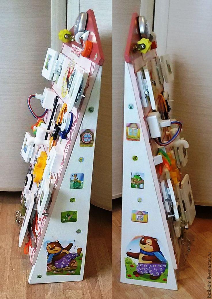 """Купить Бизиборд """"Теремок-2"""" - бизиборд, развивающая игрушка, Монтессори, подарок ребенку, раннее развитие"""