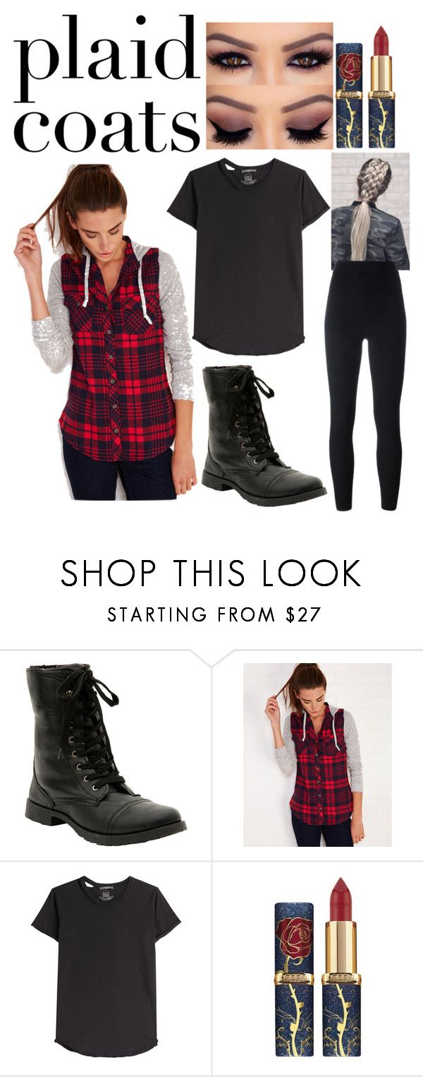 """""""plaid coat"""" by lindsey-mw ❤ liked on Polyvore featuring Hot Topic, Wet Seal, Alexander McQueen and Yeezy by Kanye West"""