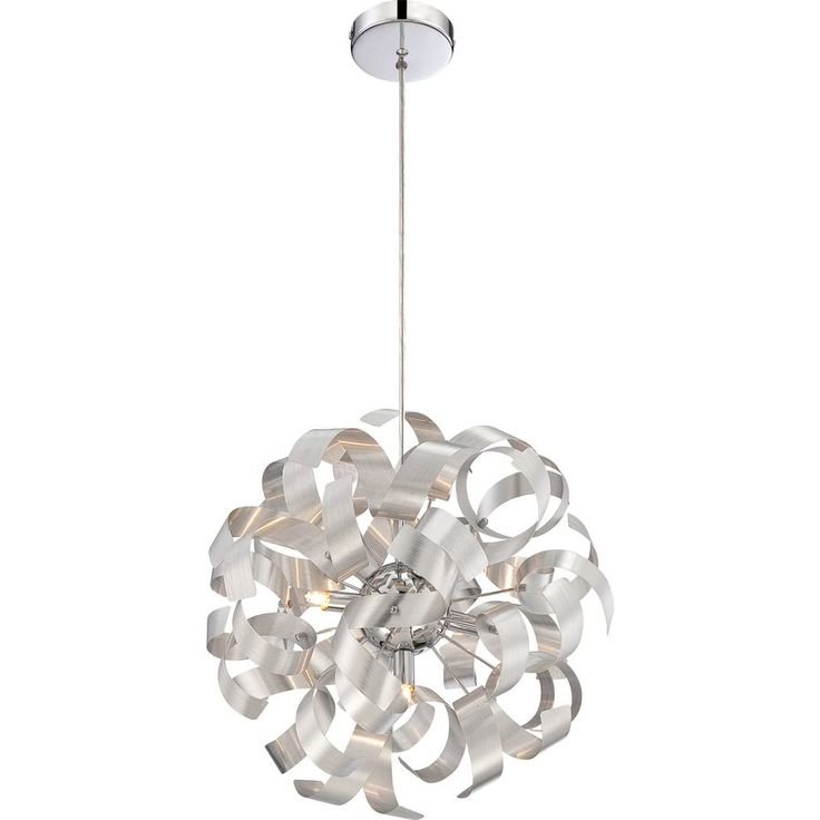 Ashley Harbour 5 Light Brushed Silver Pendant with Shade | Lowe's Canada  Den light