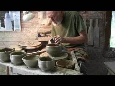 I love what he has to say about the communication between a maker and the user of a pot. Renowned potter Warren MacKenzie shares some thoughts about handmade ceramics while working in his studio. (Wonderful video with lovely background music!).