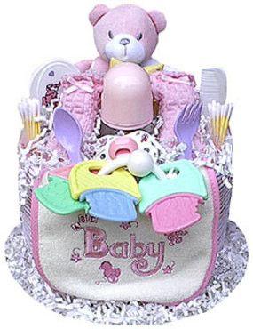 Baby Girl Bear Diaper Cake