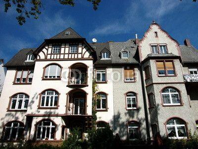 Jugendstil Fassaden in der Bismarckstraße in Offenbach am Main