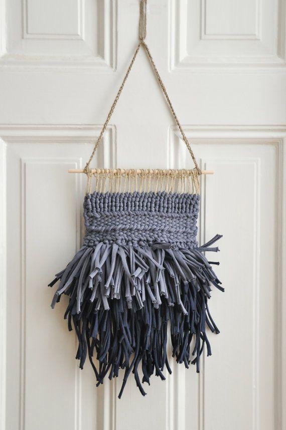 Night wall hanging... with big zpagetti yarn