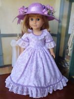 "Handmade Lavender Outfit For American Girl Dolls Any 18"" Doll, Doll Not Included"