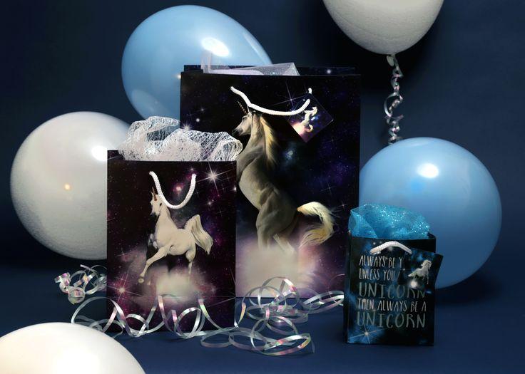 Bolsas de regalo con diseño unicornios místicos y frases para felicitar y regalar de una manera especial #unicornio #bolsas #regalo