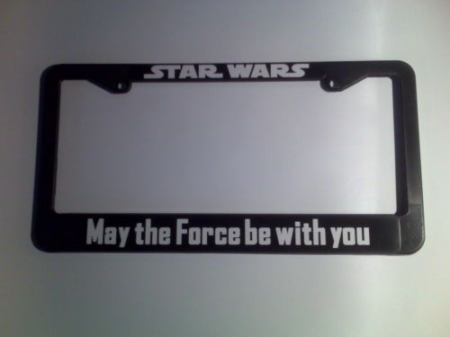 star wars may the force be with you license plate frame
