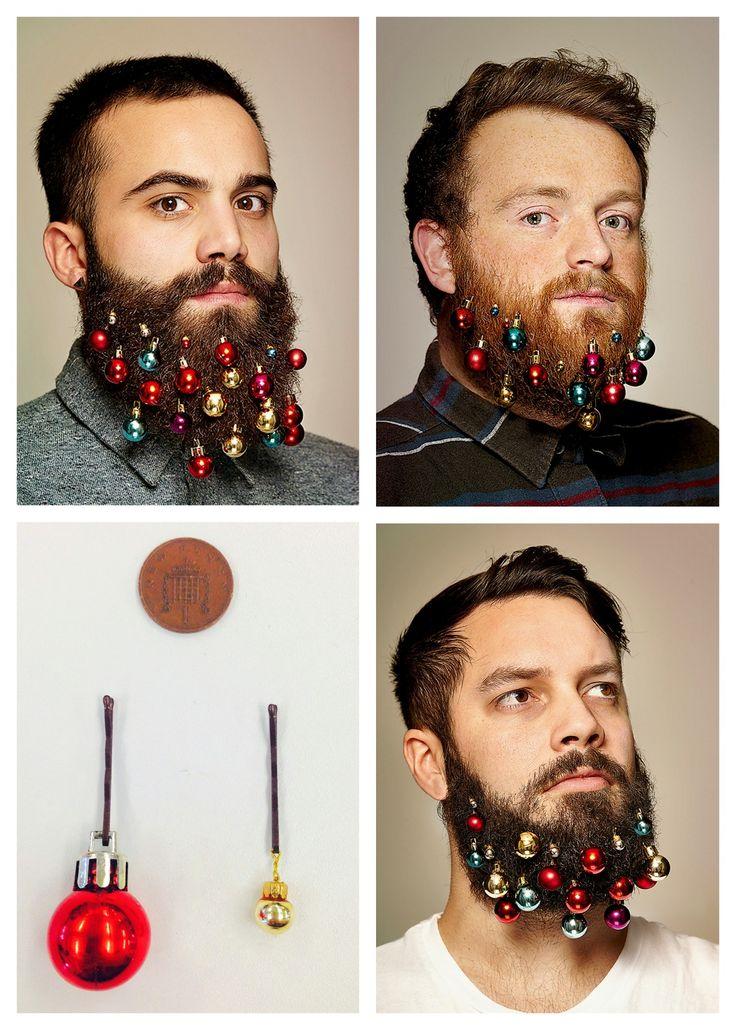 BUY or DIY Beard Christmas Ornaments or Beard Baubles just for kicks!