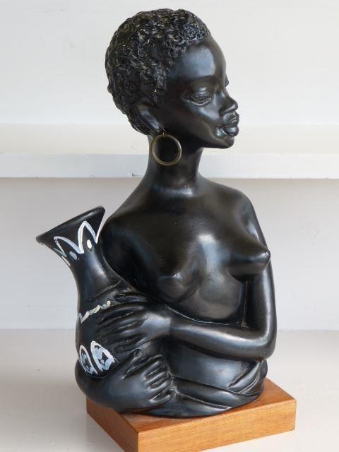 Annons på Tradera: Skulptur/Gino Manca/1950-tal/Retro
