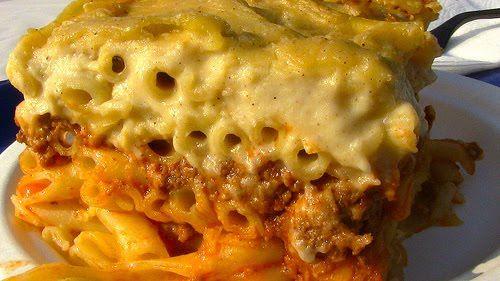 Cheesy Greek Lasagna ~ Pastitsio