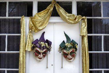 Happy masks instead of creepy