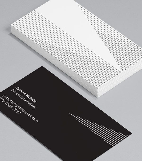 Optical Illusions: for businesses and entrepreneurs who profit from a linear approach, these could be the perfect standard Business Cards for you. #moocard #businesscard