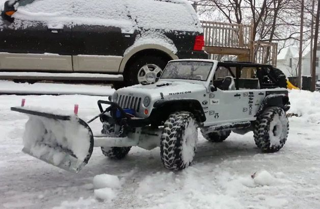 Yes my Husband saw this.....Yes he has to have one now! Sigh! ~ It is pretty frick'n awesome, though! lol ~ Watch this R/C Jeep Wrangler plow snow