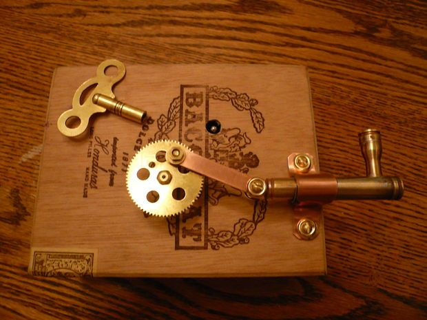 Picture of clockwork piston steampunk steampunk crafts for Clock mechanisms for craft projects