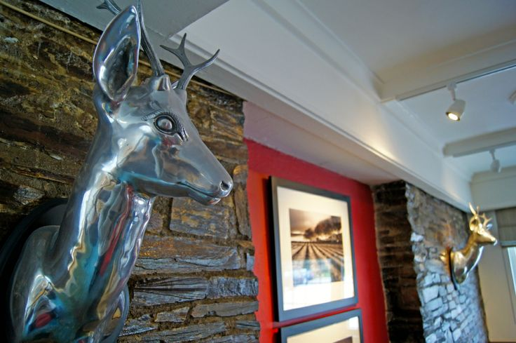Stags heads in the bar