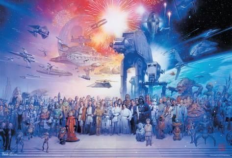 Star Wars Movie Galaxy Poster Poster