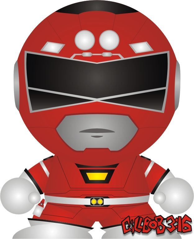 This is a custom design I made for a Vinyl Symbiote based on the Power Rangers Turbo Red Ranger. Symbiotes are customizable Vinyl toys, produced by Symbiote Studios, available for purchase at... ww...