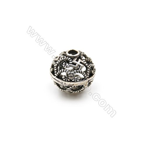 Thai Sterling Silver Beads, Hollow Beads, Necklace Charms, Bracelet Charms