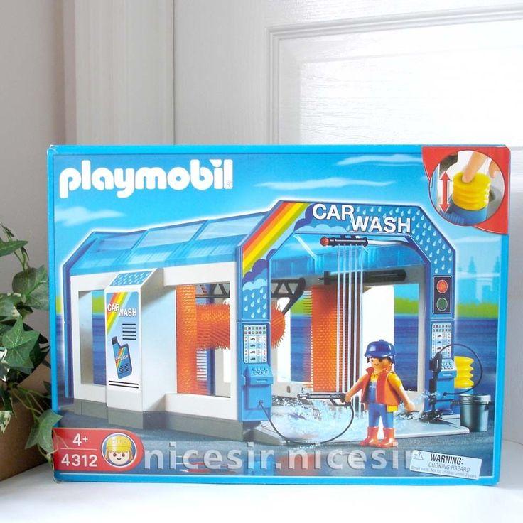 Playmobil 4312 Car Wash Station Preschool Play Set Toy
