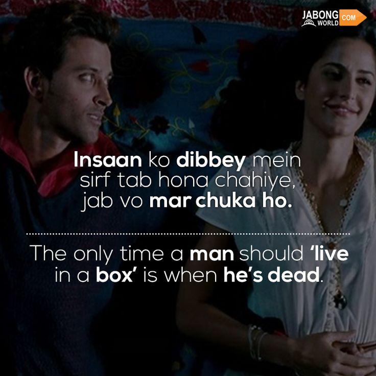 #JWQuotes #BollywoodQuotes  #ZindagiNaMilegiDobara #HrithikRoshan #KatrinaKaif