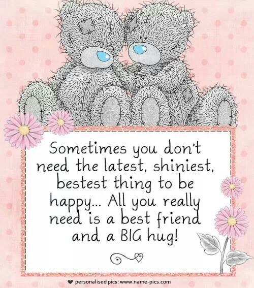 All you need is a true friend