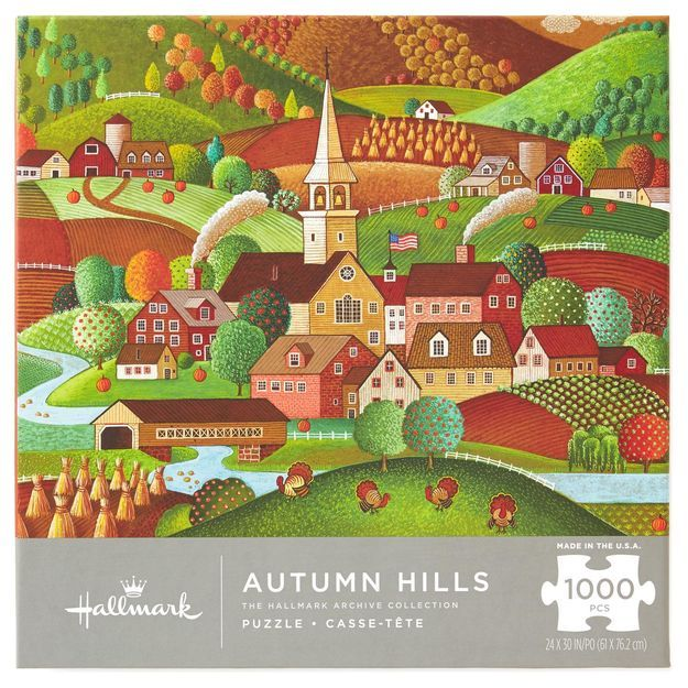 """""""Autumn Hills"""" ~ a 1000 piece Archive Collection jigsaw puzzle from Hallmark."""