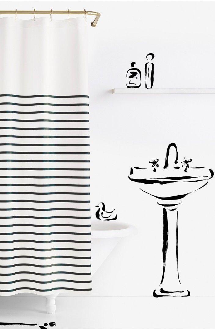 Main Image Kate Spade New York Harbour Stripe Shower Curtain