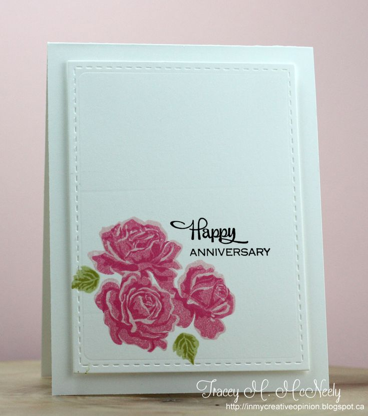 wedding anniversary card pictures%0A CAS Floral Anniversary card  bjl