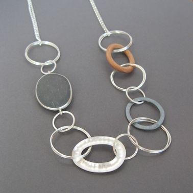 Pebble hoop necklace | Contemporary Necklaces / Pendants by contemporary jewellery designer Grace Girvan