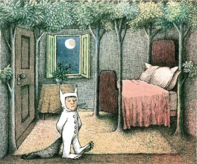 Max's room a scene from Maurice Sendaks 'Where the Wild Things Are'