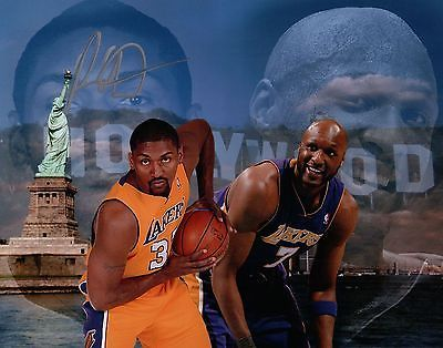 Ron Artest Metta World Peace Autographed Signed 8X10 Photo Lakers w/Odom NY-LA