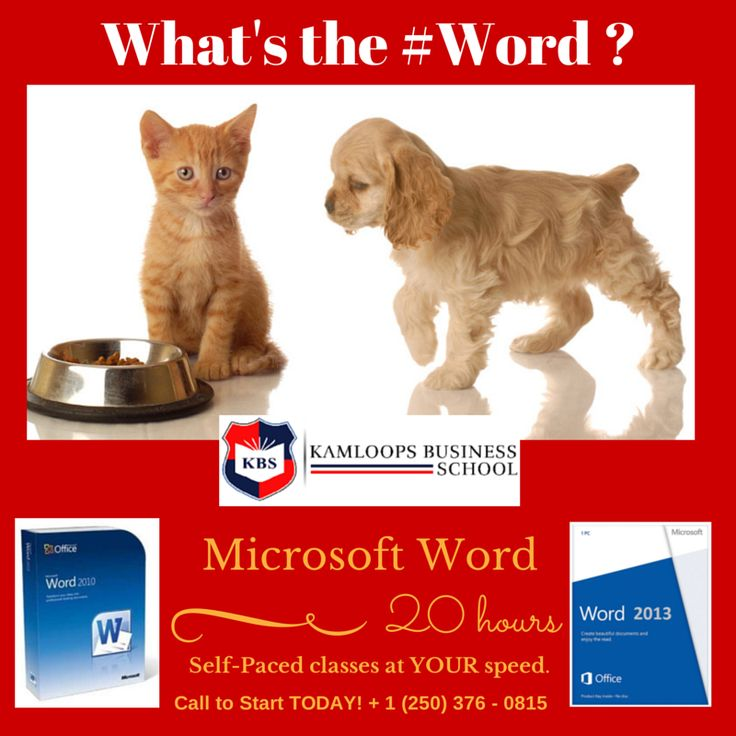 #Microsoft #Word - upgrade your skills to 2013 with this Self-paced computer course (continuous entry) - the student is able to schedule their training over 20 hours of their choice Call for details (250) 376-0815.
