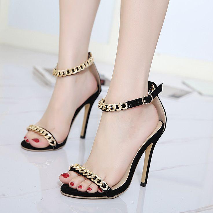 Tienda Zapatos dorados de la boda Glitter Open Toe Cut Out Sandalias de tacón alto Mujeres Gladiator Sandals Envío gratis Popular Jmg145S4nm