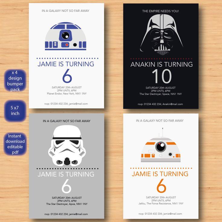 The 25 best Star wars invitations ideas on Pinterest Star wars