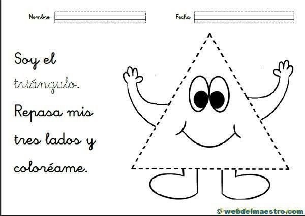 10 Fichas Para Identificar El Triangulo Con Imagenes Figuras