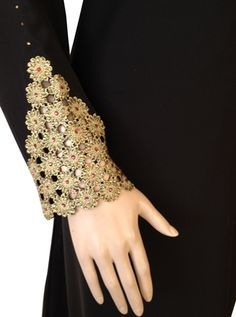 lace abaya multi sleeve view  for more:  http://pakifashion.com/category/abaya/