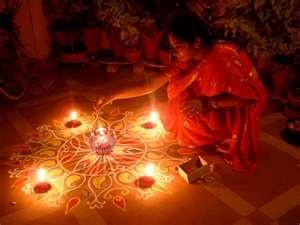 Download Indian Festivals wallpaper, 'South India Diwali'.
