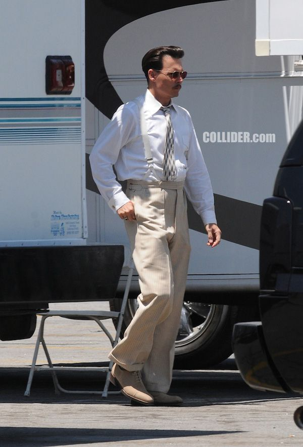 Pictures of Johnny Depp as John Dillinger on the set of PUBLIC ENEMIES – A Collider Exclusive