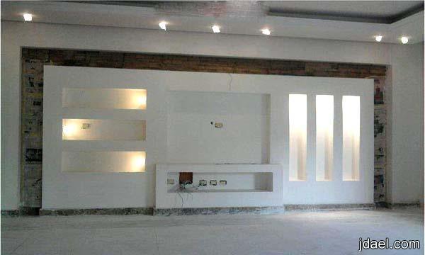 تصاميم جبس لشاشة البلازما والتلفزيون وافخم الرفوف للجدار لغرفة المعيشه منتدى جدايل Arredamento Ingresso Design Design Per Il Soggiorno Design Del Soffitto