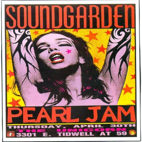 Soundgarden / Pearl Jam concert poster