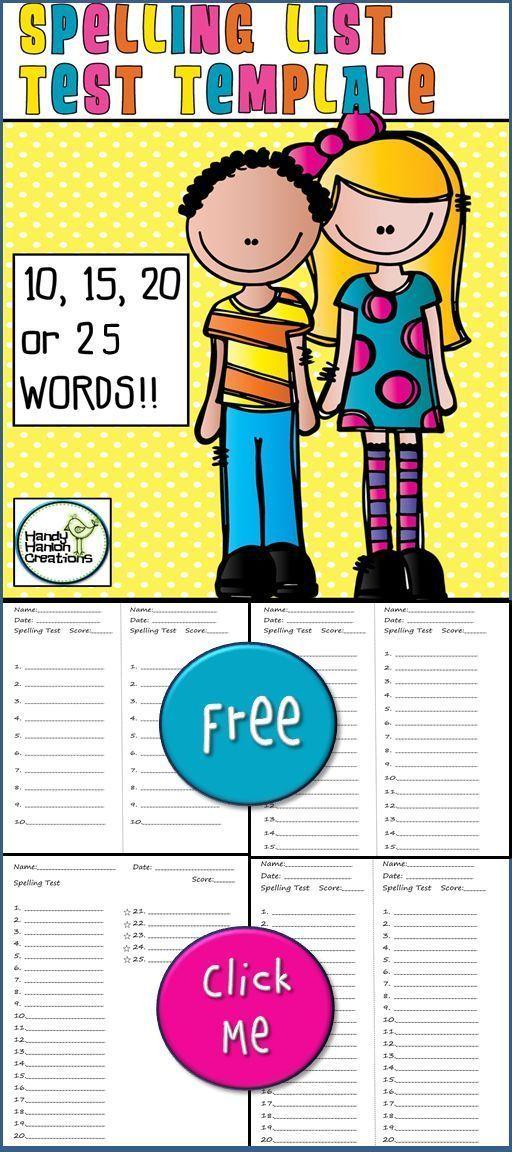 Topul celor mai bune 25+ de idei despre Spelling test template pe - spelling test template
