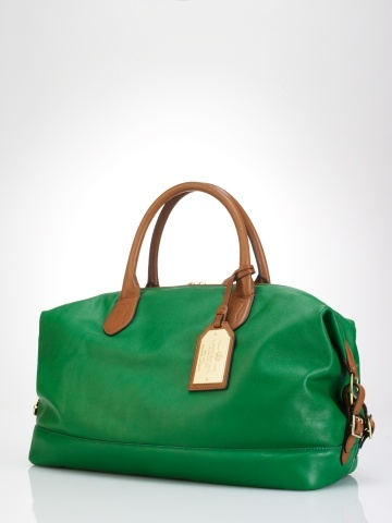 Perfect green satchel by RL.