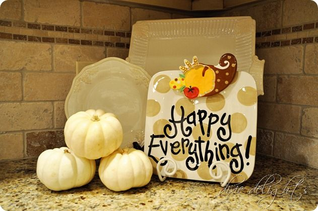 Attached to a Cause Happy Everything plate by Coton Colors